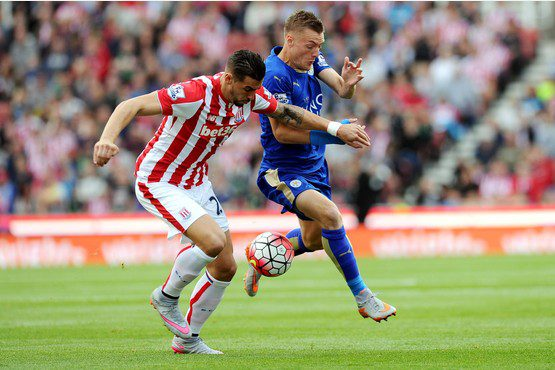 PICTURE MIKE SEWELL. Stoke City v Leicester City.