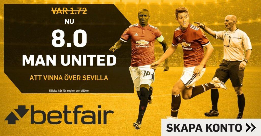 united-sevilla boostade odds hos betfair