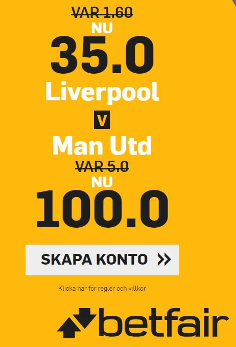 betfari man u - liverpool offer