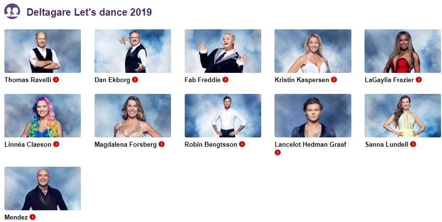 deltagare lets dance 2019