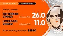 boostad odds CL final Tottenham liverpool
