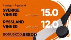 Sverige Ryssland 888sport promo