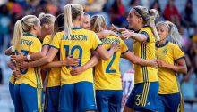 Sverige Thailand dam VM 2019 fotboll