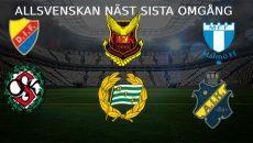 Allsvenskan näst sista omgång