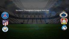 Veckans Champions League matcher - Fotbollsklubbar med logos