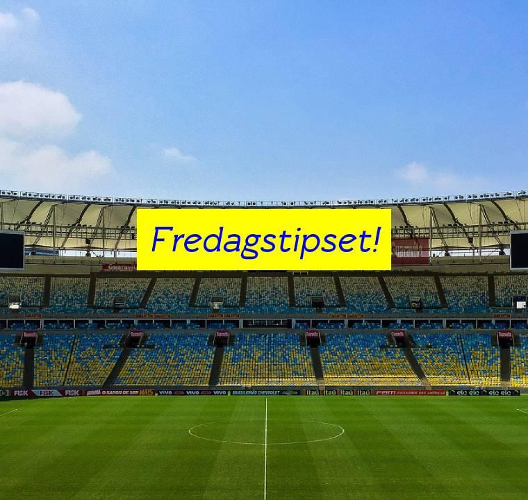 Fotbollsarena med text