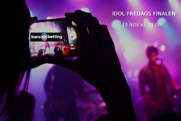idol odds fredags final barabetting