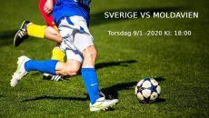 Sverige vs Moldavien 9 januari 2020