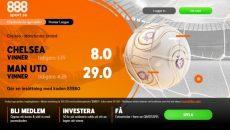 Premier League - Chelsea - Man U - Boostade odds 888Sport